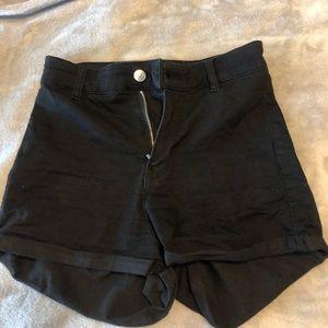 black blue jean shorts